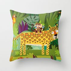Jungle Throw Pillow by Milanesa - $20.00
