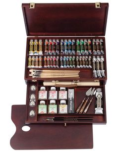 So happy with my Rembrandt box Art Supplies Storage, Painting Tools, Dot Painting, Cute School Supplies, Dream Art, Paint Set, Art Studios, Love Art, Art Drawings