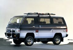 1985 Mitsubishi Delica Mad 4 Wheels: here you'll find an awesome quantity of free hi-res cars pictures. Daily updated for your desktop and for your passion. Old Car Restoration, Mitsubishi Delica, Mitsubishi Cars, Automobile, Vanz, Beetle Convertible, Van Car, Bug Out Vehicle, Mini Trucks
