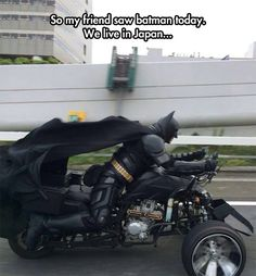 Batman Has No Jurisdiction There...Correction, Japan has no jurisdiction over Batman...