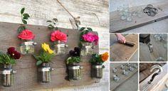DIY Jar Flower Vase DIY Projects / UsefulDIY.com