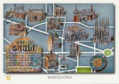Gaudi Buildings Map
