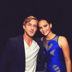 Ryan Gosling + Jennifer Lawrence I would need nothing else in life with these two in the same room....