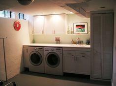 great basement laundry room