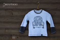modern cross stitch, handmade boys shirt