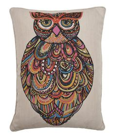 Take a look at this Fancy Craft Owl Pillow by THRO on #zulily today!