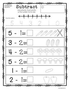 math worksheet : 1000 ideas about subtraction worksheets on pinterest  math  : Simple Subtraction Worksheet