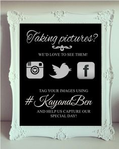 Printable Instagram Sign - Download, add hash tag & print!