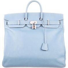 d5aa0cafe28f Hermès Epsom HAC Travel Birkin 50 Blue Jean Epsom leather Hermès HAC Travel Birkin  50 with palladium hardware