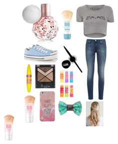"""Ariana Grande Concert"" by savannah-nicole22 ❤ liked on Polyvore featuring beauty, 7 For All Mankind, Converse, Maybelline and Bijoux de Famille"
