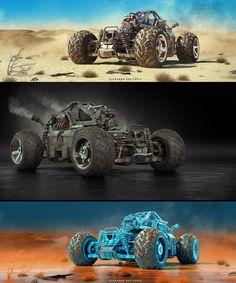 Buggy for Post Apocalypse by Alexandr Novitskiy