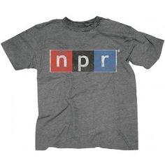 NPR Grey Distressed Logo Tee