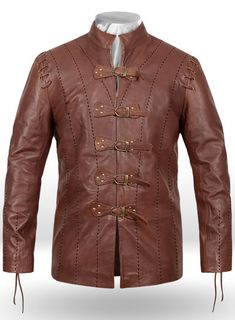 Jaime Lannister Game of Thrones Leather Jacket Custom Leather Jackets, Leather Jackets Online, Jaime Lannister, Men's Leather Jacket, Cosplay Outfits, Mandarin Collar, Jacket Style, Black Leather, Custom Clothing