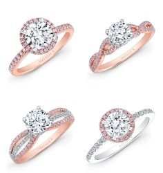 27 Gorgeous Rose Gold Engagement Rings.. *I like the bottom left or top right ones with a silver half diamond wedding band. -cat*