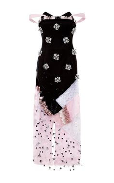PRABAL GURUNG Strapless Dress With Graphic Crystal Embroidery $11,875($5,938 deposit)