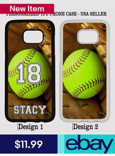 f62d81a9292 Personalized Name Number Softball Phone Case For Samsung Galaxy Note 8 5 4