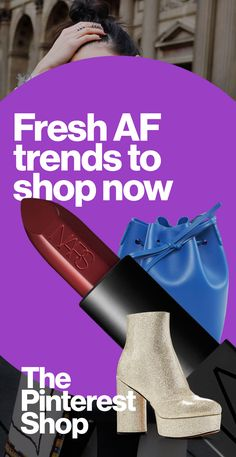 Booties rock. Metallics are major. The bold lip is big. These are just a few of the trends on Pinterest making us shout FALL YES! Shop them all in The Pinterest Shop now.