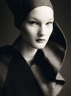 ♀ Black and white woman portrait face Kirsi Pyrhonen by Paolo Roversi (Sensational - Vogue Italia July 2010)