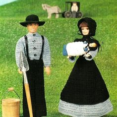 Crochet Fashion Doll Barbie Amish Family Patterns