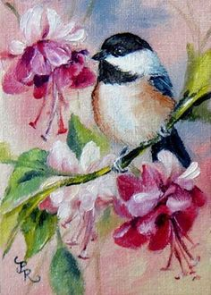 Chickadee by artist Paulie Rollins.