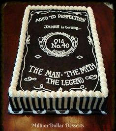 Quot Vintage Dude Quot Birthday Cake Http Www Cake Decorating