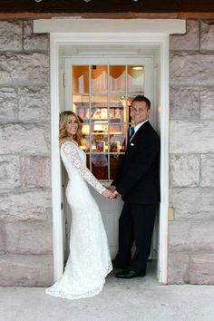 Lace Wedding Gown with Full Length Sleeves and von PolinaIvanova, $365.00
