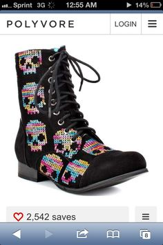 Skull military boots