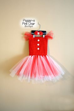 Girls Valentines Day Tutu Dress and by PeppersPinkChair on Etsy