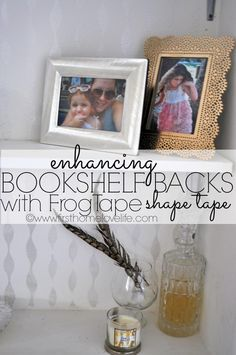 Painting a Bookshelf with FrogTape Shape Tape #diy #homedecor