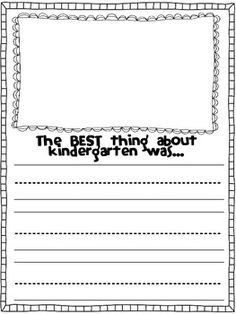 The BEST thing about … End of Year Writing Templates for - Colorful Candies Kindergarten 2020 Kindergarten Writing Activities, Kindergarten Language Arts, Teaching Writing, Preschool, Teaching Ideas, End Of School Year, End Of Year, Kindergarten Graduation, Kindergarten Teachers