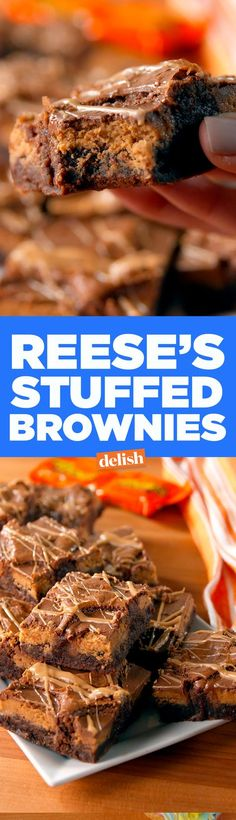 Once you try these Reese's Stuffed Brownies, you'll never settle for regular brownies again. Get the recipe on Delish.com.