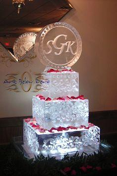 Ice Cake Ice Sculpture  _Ice Sculpture _Wedding _Events