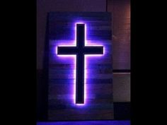 Pallet Stage Art – LED Crosses - Could be a nice cross for Easter service or something More stage design church Youth Group Rooms, Church Stage Design, Bois Diy, Wooden Crosses, Church Interior, Prayer Room, Prayer Wall, Stage Set, Kids Church
