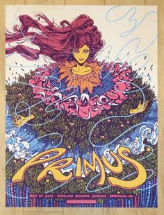 2017 Primus - Asheville Silkscreen Concert Poster by James Flames