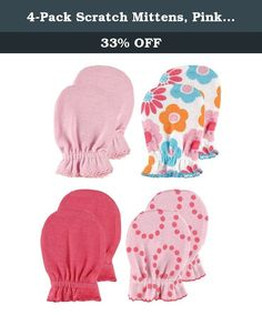 7c25f3522d1cb Scratch Mittens, Pink Patterns Combed Cotton Set Includes 2 Solid Color and  2 Patterned Scratch Mittens Elastic Bands in Wrist to Ensure Hold Machine  ...