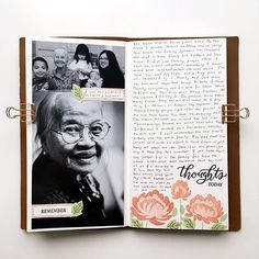 Journaling in my traveler's notebook and using stamps from @studio_calico 's January stamp kit!