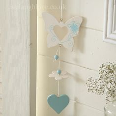 Butterfly Decorative Hanging-Cream