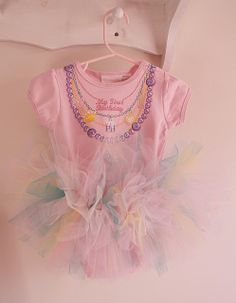Onesie with Tutu by ohsohappytogether - what my niece should wear every day!