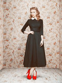 Love everything about this! The hair, the dress, the shoes (minus a few inches)