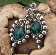 Sterling Silver Earrings Wire Wrapped Jewelry by GravelRoadJewelry, $48.00