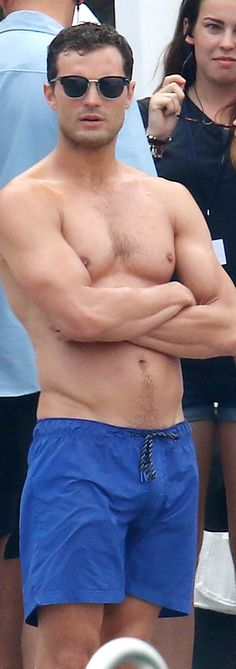 """50shades: """" """" Jamie and Dakota on the Fifty Shades Freed set in France on July 12 """" """""""