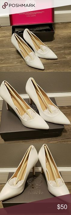 Vince Camuto White Heels Brand new Vince Camuto White heels Vince Camuto Shoes Heels
