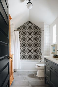 Dreamy English cottage provides gorgeous curb appeal in Michigan Bad Inspiration, Bathroom Inspiration, Bathroom Ideas, Bathtub Ideas, Interior Inspiration, White Bathroom, Bathroom Interior, Shared Bathroom, Modern Bathroom