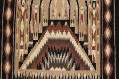 Navajo : Extremely Fiine, Navajo Yei Textile by Sally Simpson #180 – CulturalPatina