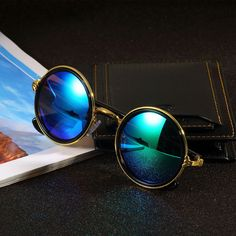 Classic Fashion Round Vintage Retro Style Classical Metal Frames Sunglasses SQ