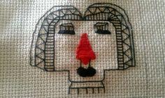 Badut kota, #embroidery #handmade