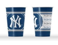 NEW YORK YANKEES DISPOSABLE PAPER CUPS - 20 PK