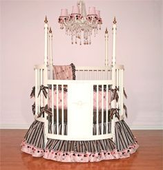 @rosenberryrooms is offering $20 OFF your purchase! Share the news and save!  Carmella Round Crib Linens #rosenberryrooms