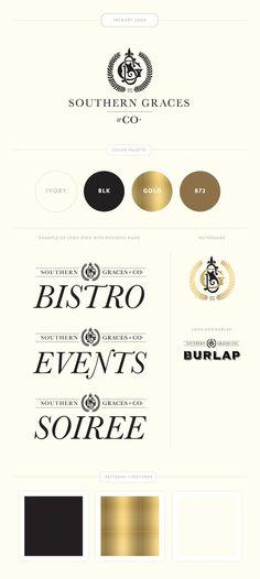Emily McCarthy Branding Design | Southern Graces & Co Branding Board