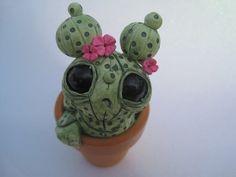 Handmade Cactus Cute Sculpture Green by PlayfulPixieCreation